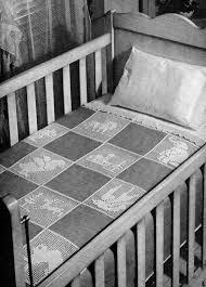 nursery filet crochet animal pattern baby blanket crib quilt