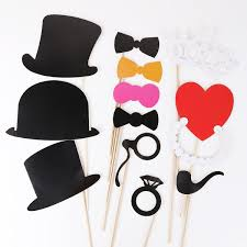 diy photo booth props 44pcs colorful props on a stick mustache photo booth co uk