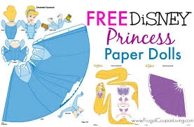 free disney paper dolls printable princesses