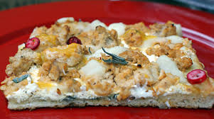 thanksgiving pizza arrives at pizza by cer te midtown lunch