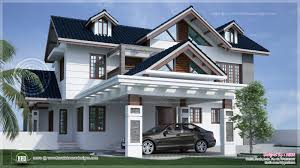 House Car Parking Design River Side Kerala Style Residence Exterior Design Indian House Plans