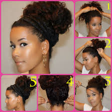 natural hair bun styles with bang halo bun tutorials for natural and curly hair i wish mine came