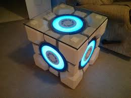 themed coffee table portal weighted storage cube table storage cubes portal and storage
