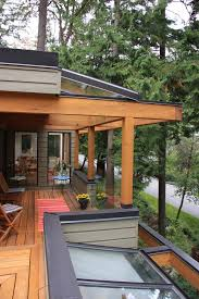 covered deck designs deck contemporary with rooftop seating