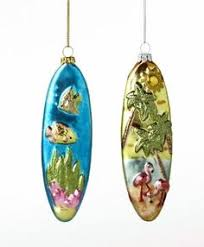 surfboard ornaments set of 3 our cottage