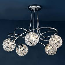 sphere 5 light chrome ceiling fitting ceilings lights and