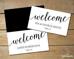 Place Cards Wedding Diy Place Cards Wedding Black And White Place Cards Editable