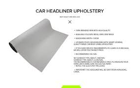 Upholstery Glue For Car Roof Gray Grey Car Roof Lining Upholstery Headliner Oz Auto Foam Backed