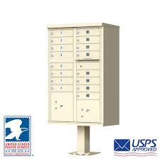Pedestal Mailbox Outdoor Cluster Mailbox With Pedestal And Usps Mail Boxes Also