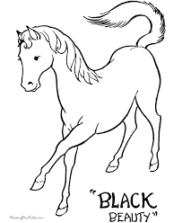 coloring sheets of a horse coloring pages of horses to color