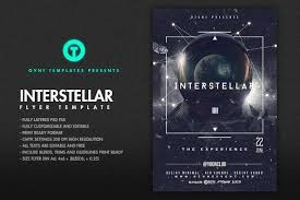 space interstellar flyer template flyer templates creative market