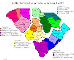 map of sc south carolina scdmh county map