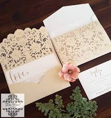 pocket invitation laser cut pocket invitation set of 50 wedding invitations san