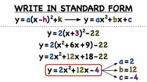 how do you convert a quadratic equation from vertex form to