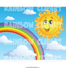royalty free stock rainbow designs of sun characters