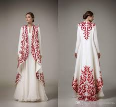 Cheap Gowns Elegant White And Red Applique Evening Gowns Ashi Studio 2016 2017