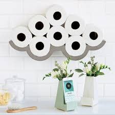 toilet paper holder storage house decorations