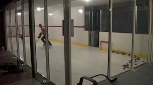 ultimate hockey room with hyper glide synthetic ice youtube