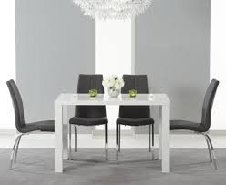Black Gloss Dining Room Furniture Atlanta 120cm White High Gloss Dining Table With Cavello Grey