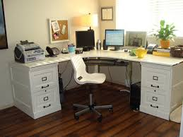 Metal Computer Desk With Hutch by Funiture White Office Furniture Ideas Using Offset Corner Shaped