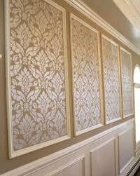 MouldingFramed Wallpaper Wallpaper Panels Diy Wallpaper And - Decorative wall molding designs