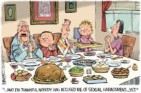 hilarious thanksgiving in a post weinstein america