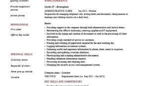 administrative clerk resume clerical sle template