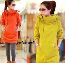 shirt sweater jacket fall ulzzang asian neon orange