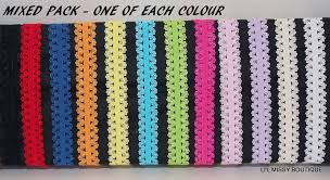 stretchy headbands 12 elastic lace look headbands mixed colour pack or single