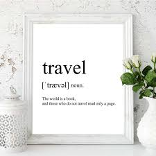 travel definition images Minimalist black and white word inspiratonal quote poster travel jpg