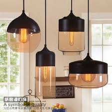 Glass L Shades For Ceiling Lights Modern Half Paint Glass Pendant Light Hanging Ceiling