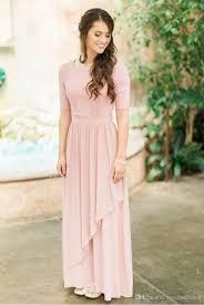 modest bridesmaid dresses dusty lace chiffon modest bridesmaid dresses 2017 with