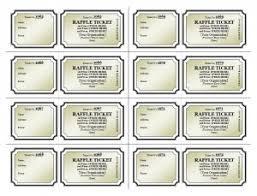 raffle ticket template blank raffle ticket template template haven
