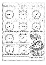 exercises what time is it we worksheets