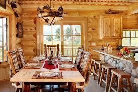 Log Cabin Dining Room Furniture Tips For Log Cabin Decorating
