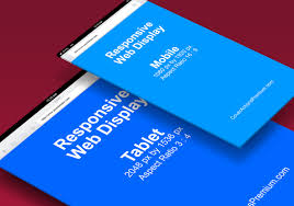 responsive webpage display mockup cover actions premium psd
