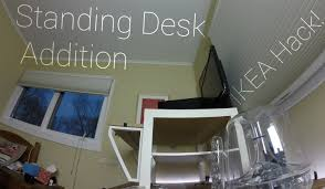 Ikea Galant Standing Desk by Standing Desk Addition For Workstations Ikea Hack Youtube