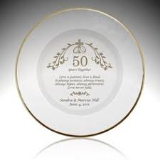 50th wedding anniversary plate laser engraved dinner plate personalized engraving