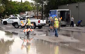 Sarasota County Zoning Map Water Main Break Closes Tamiami Trail In Sarasota News