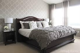 moorish trellis wall stencil master bedroom makeover wall