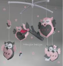 sale gorgeous owl cot crib mobile owl musical mobile felt