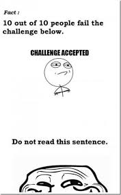 Challenge Accepted Meme Face - challenge accepted meme history lol pinterest challenge