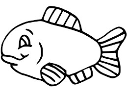 simple fish coloring pages getcoloringpages com