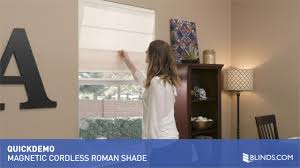 Blackout Cordless Roman Shade Blinds Com Magnetic Cordless Roman Pleat Shade Quickdemo U0026raquo