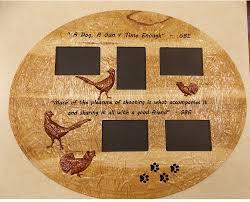 wood wall art wood frame dog hunting pheasant and grouse wood