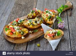 baked canapes warm vegetarian canapes baked crostini with mixed