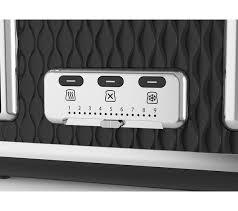 Breville Electronic Toaster Buy Breville Curve Vtt786 4 Slice Toaster Black Free Delivery