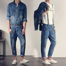 denim jumpsuit mens vintage denim jumpsuit jean rompers slim cowboy retro
