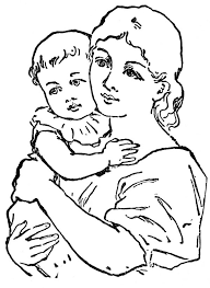 indian mother with baby drawing free download clip art free