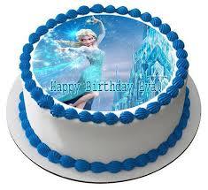 frozen birthday cake frozen elsa edible birthday cake or cupcake topper edible prints
